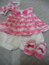 American Girl BITTY BABY Doll CLOTHES HEARTS & STRIPES VALENTINES OUTFIT NIB