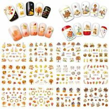 12 Types Thanksgiving Day Nail Art Water Transfer Maple Leaf Decal Sticker