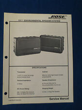 BOSE 151 ENVIROMENTAL SPEAKER SYSTEM SERVICE MANUAL ORIGINAL GOOD CONDITION