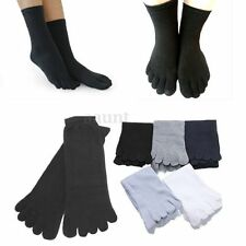 5 Pairs Men's Mesh Socks Pure Cotton Sports Five Seperate  Finger Toe Socks US