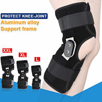 1X Aluminium Adjustable Knee Twin Hinged Support Medical Brace Pain Relief New
