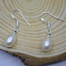 Genuine Freshwater Pearl 925 Sterling Silver PL Hook Drop/Dangle Earrings Gift