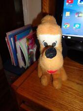 "Vintage 1976 Pluto Puppy Dog Plush Knickerbocker Cloth Eyes Sits 10"" Disney"