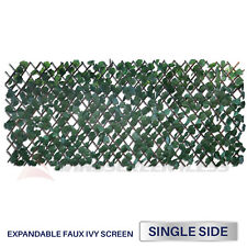 Expandable Artificial Faux Ivy Leaf Privacy Fence Screen Windscreen Single Side