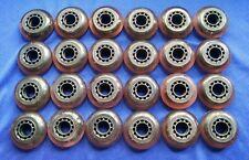Lot of 24 Rollerblade Inline Fitness Hockey Skate Wheels 70mm 78A (Purple)