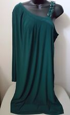 Adrianna Papell NWT Woman's Green w/ Gems Casual Formal Evening Dress Size 16