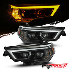 For 2014-2020 Toyota 4Runner LED Sequential Projector Golssy Black  Headlights