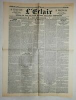 N889 La Une Du Journal L'éclair 3 mai 1900 une inauguration, l'actualité