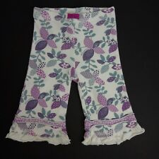 Naartjie Girls 3-6 Months Floral Ruffle Bottom Stretch Pants Leggings LL21