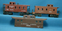 O Scale Lot of 3 Vintage Lionel Coupola Cabooses Missing Parts/Repairs
