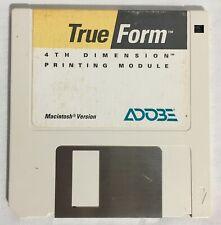 "Adobe TRUE FORM Vintage Apple Macintosh Mac 3.5"" Disk Printer Utility Software"