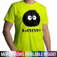 Totoro Spirited Away Soot Sprite Dust Bunny Mens Cotton Crew Neck Tee T-Shirt