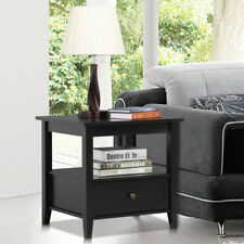 Small Square End Table Wood Living Room Side Sofa Accent Night Stand Storage New