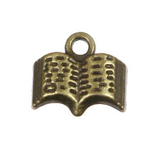 10 Bronze Story Book Charms, Bible Charms, Literature Charms, 12mm, chs3376
