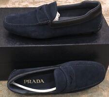 $750 New Prada Mens Blue Shoes Calzaturo Uomo 6 US 5 UK 39 EU