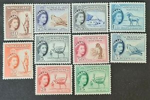 STAMPS SOMALILAND 1953 PROTECTORATE MINT HINGED - #6409