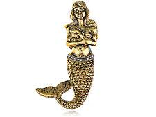 Chic Retro Gold Brass Sweet Princess Mermaid Fashion Jewelry Pin Brooch Party