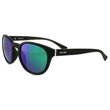 Police Sunglasses Hot 2 1937 6AAV Rubberized Black Multilayer Green