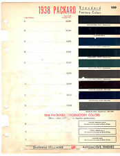 1938 PACKARD 115C SIX SUPER EIGHT V-12 38 PAINT COLOR CHIPS SHERWIN WILLIAMS