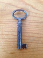 "Vintage Antique 1800s 19th Century 2.25"" Victorian Skeleton Key Solid Metal"
