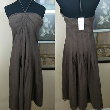 max and cleo Womens Dress Size 10 Brown Neck Strap Party Cocktail Below Knee