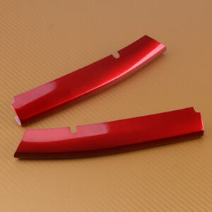 Fit for Mazda CX-5 Red 17 18 KF 2 x Front Lower Grille Grill Cover Trim Molding