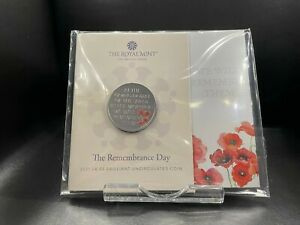 2021 Brilliant Uncirculated Remembrance Day UK £5 Five Pounds
