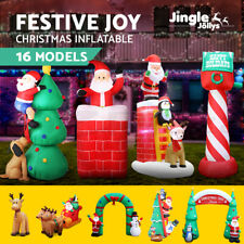 Jingle Jollys Inflatable Christmas Santa Snowman Xmas LED Outdoor Decorations