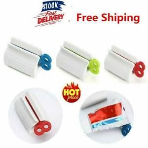 Toothpaste Tube Squeezer Easy Dispenser Rolling Holder Plastic Bathroom Supply~~
