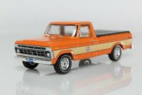 Ford F100 Pickup Truck Gulf Oil Co. w/ Bed Cover, 1:64 Scale Diecast Model F-100