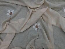 Neutro Beige Floreale Fiori di mussola finestra drappeggio tende zanzariera letto