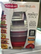 Rubbermaid 28pc Plastic Food Storage Container Set NEW DMG BOX