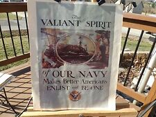 "PRINT OF WWII NAVY RECRUITMENT POSTER NAMED ""THE VALIANT SPIRIT OF OUR NAVY"""
