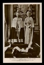 Royalty King George V Queen Mary Robes of State Tuck #3661B RP PPC
