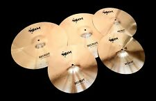 RECH RECRUIT 5 PIECE CYMBAL SET PACK - ZILDJIAN SABIAN PAISTE VIDEO INSIDE