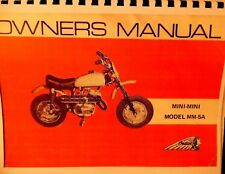 1972 Indian Motorcycle Two Set Manuals For MINI-MINI Model MM-5A ,Frame Assembly