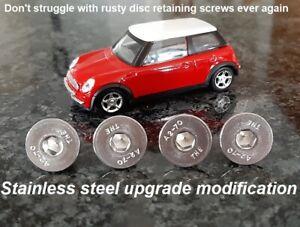 4X Brake Disc Retaining Screw Stainless BMW Mini One Cooper R50 R53 R56 All