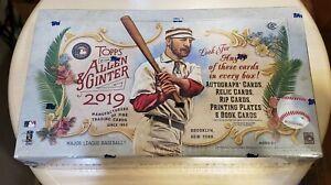 2019 Topps Allen & Ginter Baseball Factory Sealed Hobby box FREE SHIP WORLDWIDE!