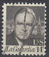 USA Briefmarke gestempelt 14c La Guardia / 2554