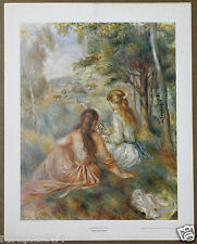 Renoir In the Meadows Vintage Lithograph