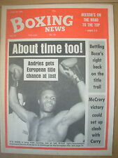 BOXING NEWS JULY 19 1985 DENNIS ANDRIES GETS TITLE CHANCE