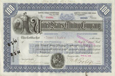 United States Mining Company > 1905 Maine stock certificate share