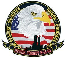 "Never Forget 9-11-01 Patch - 12"" Circle"