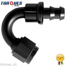 AN -10 (10AN JIC AN10) 150 Degree Push-On Socketless Fuel Hose Fitting In Black