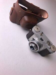"""vintage Spartus Camera """"35""""and Genuine Leather Case Camera sold For Part"""