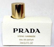 PRADA L'EAU AMBREE EAU DE PARFUM MINI SPLASH FOR WOMEN 0.2 Oz / 6 ml TRAVEL SIZE
