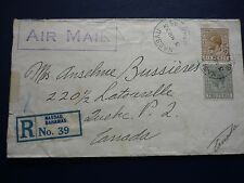 BAHAMAS 1933 early Air Mail Cover to Canada bearing 6d and 2d KGV issues 3.3.33.