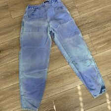Vintage Rare Patagonia Canvas Cotton Pants Women's Sun Faded Size 26 Mom Jeans