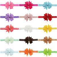 Baby Kids Headband Hairband Grosgrain Ribbon Bow Hair Accessories One Size