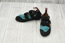 Five Ten Anasazi Lv Climbing Shoe - Women's Size 4.5, Collegiate Aqua/Black/Red
